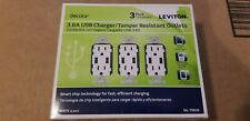 15 Amp Decora Combination Tamper Resistant Duplex Outlet and USB Charger, White