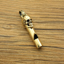 Anitque Bronze Cool Skull Whistles Keychain Key Ring Safety Whistle Xmas Gift