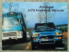 CITROEN AMI SUPER Car Sales Brochure Jan 1973 FRENCH TEXT