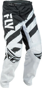 FLY RACING F-16 MX PANTS BLACK/WHITE YOUTH