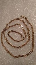 585 or 14ct Russian Rose Gold Chain 12.56 gr.(Diamond cut) The length-55 cm.New