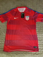 new NIKE USA men shirt jersey dri-fit red soccer M MSRP $149