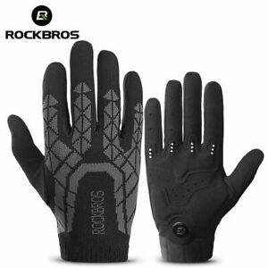 ROCKBROS Bicycle Gloves Shockproof Cycling Bike Gloves Touch Screen Breathable