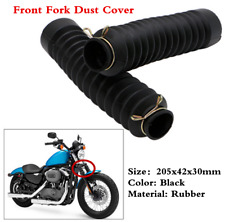 2x Rubber Motorcycle Front Fork Dust Cover Gaiters Gaitors Boots Shock Absorber