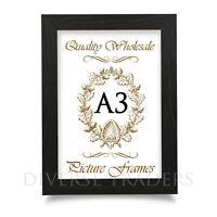 A3 Photo Frame Picture Frame Poster Frame BLACK Colour FLAT Shape Moulding