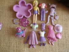 """Polly Pocket Doll Lot """"Colors of the Rainbow"""" Purple Pet Clothing Rubber 2-77"""