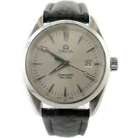 OMEGA SEAMASTER AQUA TERRA SILVER DIAL STAINLESS STEEL MENS WATCH ON STRAP