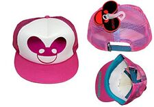 Official Deadmau5 Pink Foil Logo Trucker Hat Adjustable Baseball Cap Snapback