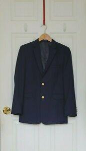 Boys CHAPS Navy 8% Wool BLAZER JACKET Size 18 R Regular Dressy Suit Coat