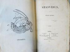 Edgar QUINET : AHASVERUS, 1834. E.O. en demi maroquin.