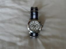 James Bond Watch Strap to fit Nato Strap fits Rolex watches Navy and White 20 mm