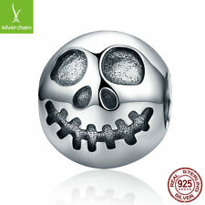2017 Silver Ghost Face Skull Head Beads Charm fit 925 Sterling Original Bracelet
