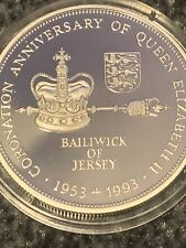 More details for coronation anniversary of qeii jersey silver £2 coin. v75