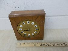 Vintage Hand Made Wood Wall Clock Battery 1970's Kit Project