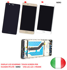 DISPLAY LCD SCHERMO  TOUCH SCREEN   HUAWEI P9 LITE    VNS-L31 L23 + FRAME NERO