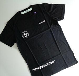 """Herren Shirt """"OFF-WHITE"""" Authentic Farbe Schwarz Grösse (XXL) 100% Baumwolle"""
