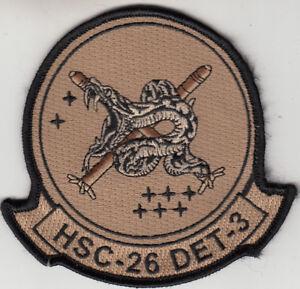 HSC-26 CHARGERS DESERT TAN DET-3 CHEST PATCH