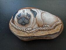 "Pug Dog Art Rock Large 7lb. 9"""