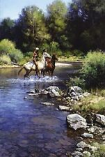 Martin Grelle Still Water Crossing LE Giclee Canvas COA  New Mint #62/75