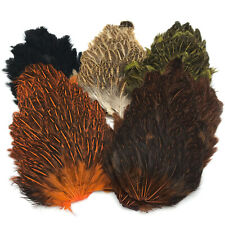 INDIA HEN BACK - Hareline Fly Tying Soft Hackle Saddle Feathers - 5 Colors NEW!