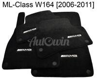 Floor Mats For Mercedes-Benz ML Class W164 AMG Emblem Black NEW Premium Carpets