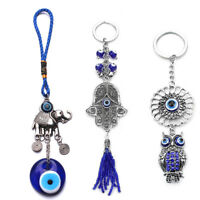 Evil Eye Hamsa Hand Elephant Pendant Keyring Bag Hanging Decor Key Chain Noted