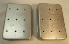 2 Perrine Aluminum Fly fishing Boxes 66 + 67 pocket size