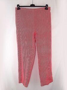 Pantalone donna righe rosso bianco affusolato taglia xxl extra large