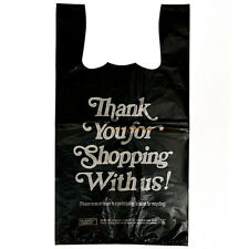 1/6 H/Duty 12x8x23 300/bx Retail T-Shirt Plastic Thank You Bags  COMMERCIAL ONLY