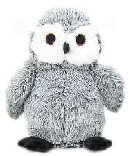 Take Me Home Two Tone Fabric Owl Doorstop ~ Grey Owl Door Stop