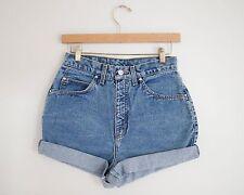 Vintage LEVI'S Medium Wash High Waisted Rise Cuffed Rolled Jean Denim Shorts 27W