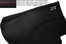 RED STITCH 2X REAR DOOR CARDS LEATHER SKIN COVERS FITS NISSAN 300ZX Z32 90-96