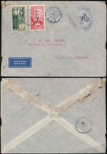FRENCH AFRICA 1940 AEF MILITARY CENSOR ABECHE...AIRMAIL