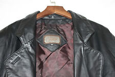 Women's Toffs Black Leather, Fully lined, retro 80s-feel Jacket in a Size M.