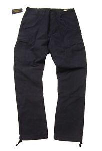Polo Ralph Lauren Men's Aviator Navy Slim Fit Canvas Cotton Utility Cargo Pants