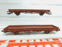 BM160-0,5# 2x Roco H0/AC Güterwagen/Niederbordwagen NEM: 336 6 001 + 333 0 187