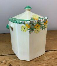 More details for art deco crown devon fieldings biscuit barrel