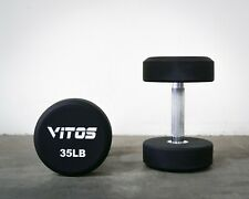 VITOS FITNESS TPU URETHANE HARDENED HANDLE COMMERCIAL 5 - 150 LB DUMBBELL PAIRS