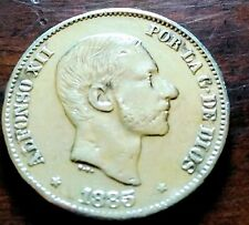 50cs 1885 Spanish-Phil coin, EF-Almost Uncirculated!!