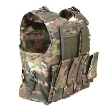 Military Tactical Molle Hunting Vest Paintball Jacket Carrier SWAT CAMO ARMY
