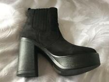 NEW Koi Couture Black Chunky ANKLE BOOTS SIze UK 4 BNIB PD7 PULL ON