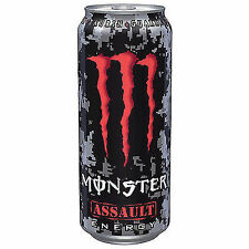 12 Dosen a 0,5L Monster Energy Assault Energie Drink inc. Pfand