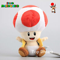 New Super Mario Bros. U TOAD Laughing Plush Toy Soft Stuffed Doll Figure 7''