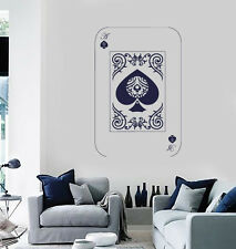 Vinyl Decal Wall Sticker Playing Cards Deck Ace of Spades Poker (n687)
