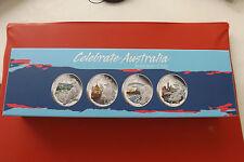 * solo 2000 Set! celebrate Australia 4 x 1 dollari (1 OZ ARGENTO) pp 2010 *