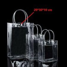 Clear Tote Bag Transparent Purse Shoulder Handbag Travel Shopping Bags Storage