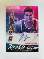 2019-20 Panini NBA Hoops Cameron Johnson Premium Stock Rookie Ink Auto RC SHARP!