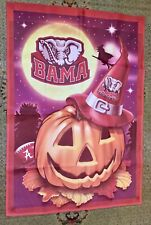 Alabama Crimson Tide Halloween & Pumpkin (2 Sided) Banner Sign 28� X 40� Flag
