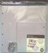 Scrapbook Chipboard Album Kit XLg 23 P book ring page wedding birthday shower