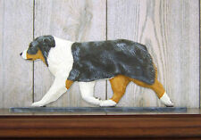 Australian Shepherd Sign Plaque Wall Decor Blue Merle